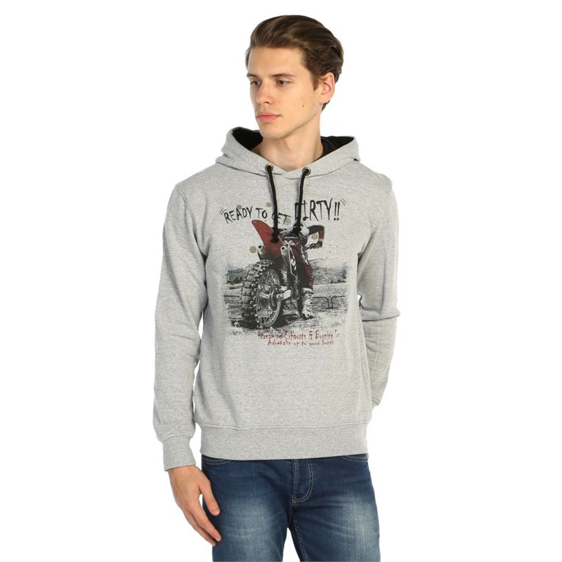 Ready To Get Dirty Erkek Sweatshirt Gri